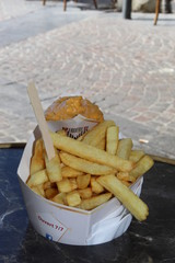 Frites lilloisies. French fries