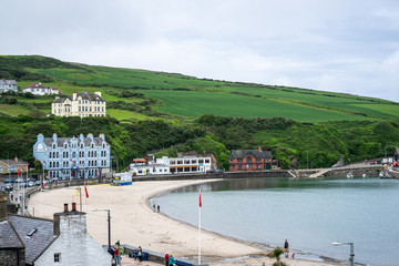 Port Erin,Isle of Man, June 16, 2019. It is a seaside village in the south-west of the Isle of Man. It was previously a seaside resort before the decline of the tourist trade