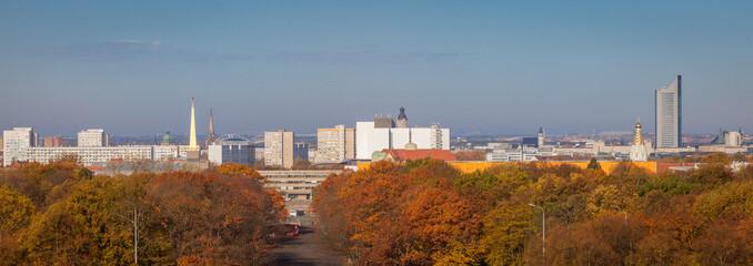 Papiers peints Maroc Panorama of Leipzig in fall scenery