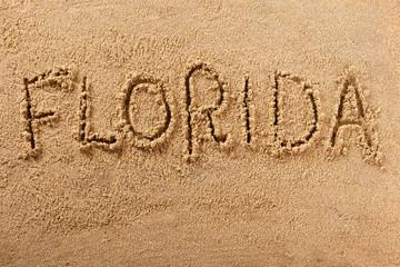 Florida handwritten beach sand message