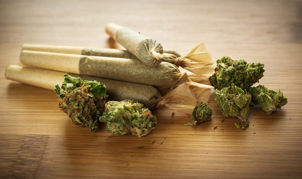 Cannabis joints filled with the indica strain Death Star