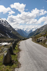 View from the mountain road on Strynfjellet, Norway