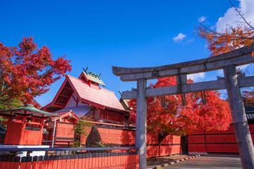 京都 車折神社の紅葉