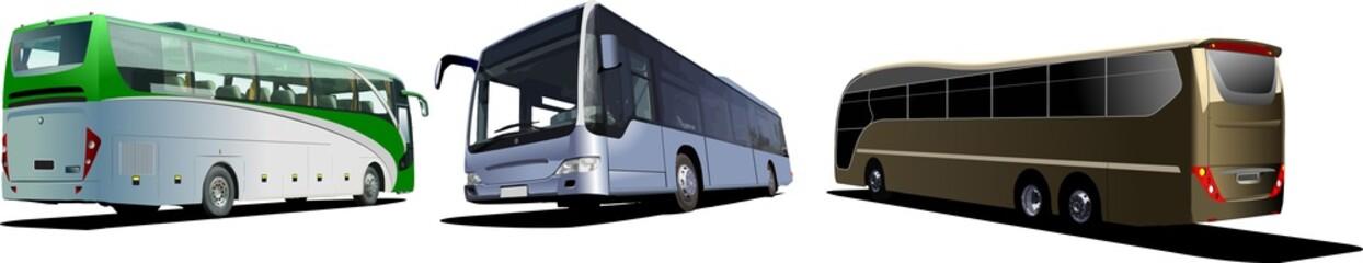 Three Tourist buses. Coach