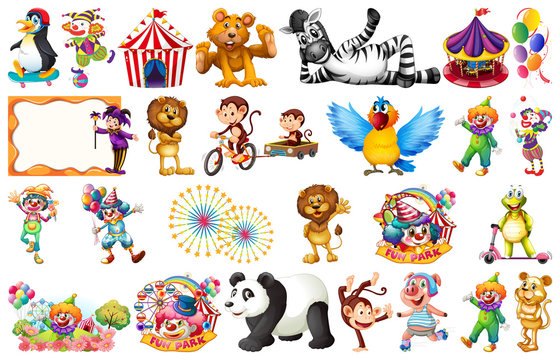 Set of circus element