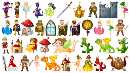 Poster Kids Set of medieval character