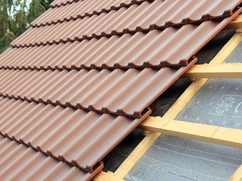 Dacheindeckung im Detail