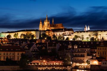 Wall Mural - Prague castle in twilight at Prague, Czech Republic