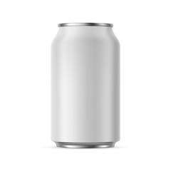 Fototapeta Aluminium can mockup 330 ml, isolated on white background - front view. Vector illustration obraz