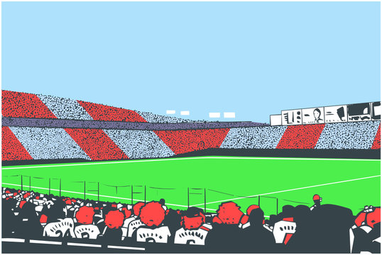 Illustration of arena crowd at sports event