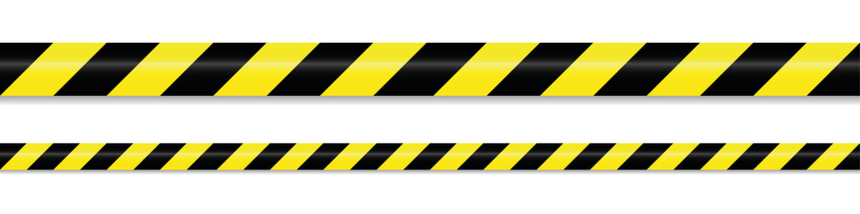 warning tape yellow black on white background vector illustration EPS10