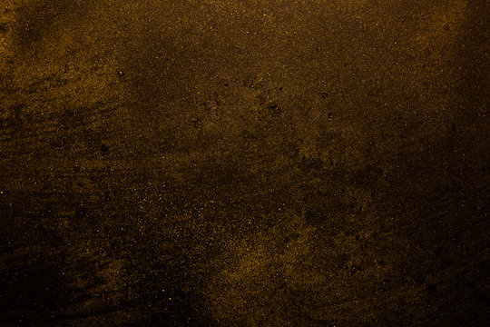 black and gold, abstract grunge background