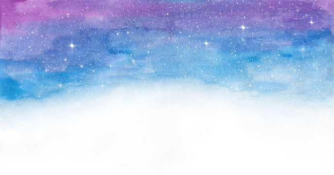 Watercolor colorful  space galaxy