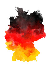 Abstract watercolor map of Germany
