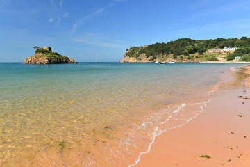 Portelet Bay, Jersey, U.K. Picturesque beach in the Summer.