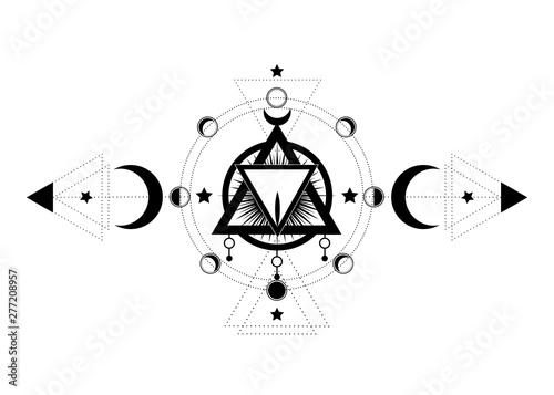 Masonic symbol  The Sacred Vagina inside triple moon pagan