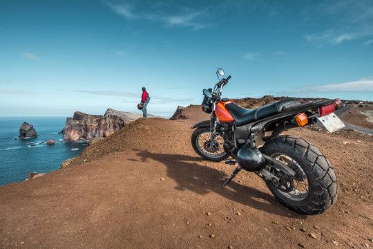 Madeira lonely biker - Ponta de Sao Laurenco, Madeira - Portugal