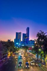 The city of Surabaya at dusk