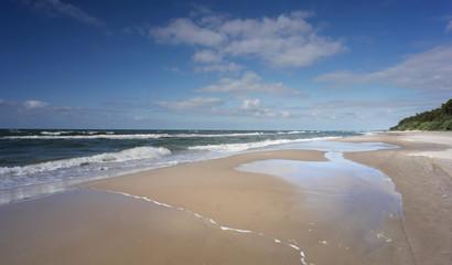 Morze storm - Dziwnówek Dziwnowo plaża