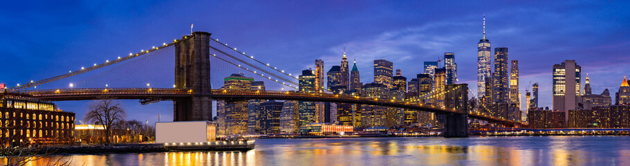 Spoed Foto op Canvas New York Brooklyn bridge New York