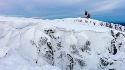 Obraz Mountains Karkonosze in winter, Sudety, Poland - fototapety do salonu