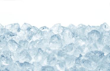 heap of crashed ice on white background