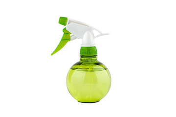 Green water sprayer isolated on white background