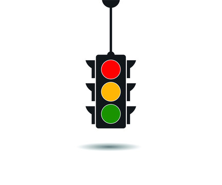 Traffic light icon, vector illustration, eps 10