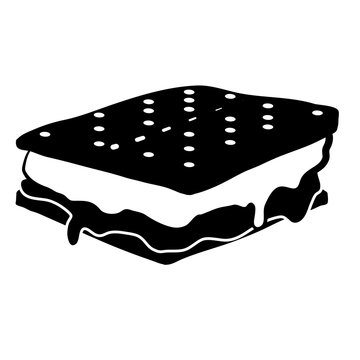 S'mores Vector Icon Illustration Graphic