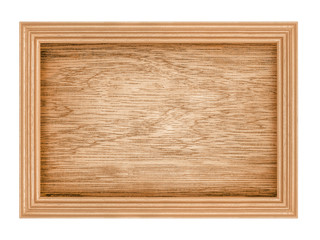 brown wood frame Isolated on White Background