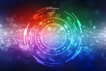 Abstract futuristic digital technology background, Cyber Technology background