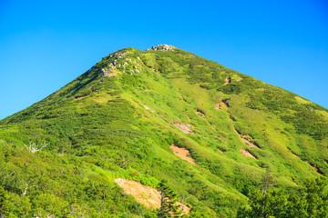 夏の燧ヶ岳 ミノブチ岳から望む俎嵓 福島県檜枝岐村