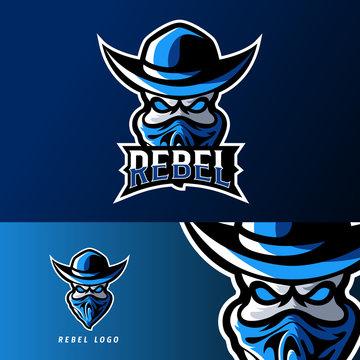 rebel bandit sport or esport gaming mascot logo template
