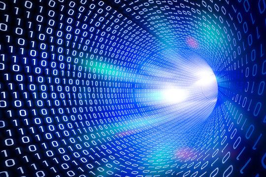 Blue binary tunnel background
