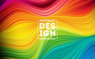 Fototapeta Modern colorful flow poster. Wave Liquid shape color background. Art design for your design project. Vector illustration EPS10 obraz