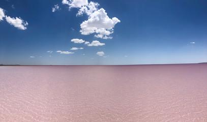 salt lake landscapes with spectacular colors
