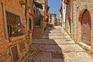 Summer vacation in the medieval village of Priverno, in Italy