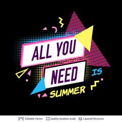 Summer season ad background in pop-art style.