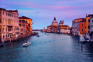 Wall Mural - Grand Canal in Venice, Italy at night