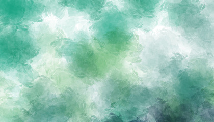 Abstract green watercolor painted background