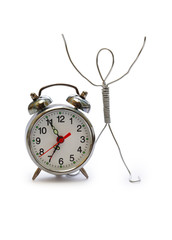 Man And Alarm Clock