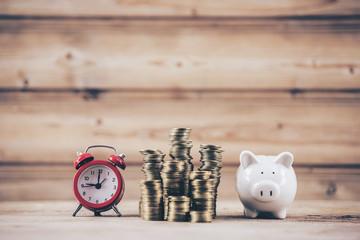 Saving money Saving or investing concept.