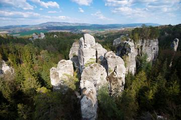 Obraz Rock Town of Hruba Skala. Bohemian Paradise - Cesky Raj - Czech Republic - fototapety do salonu