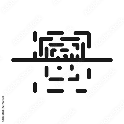 barcode scanner - minimal line web icon  simple vector
