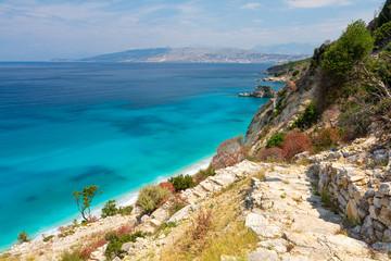 beautiful view on ionian sea on Mirrors' beach between Ksamil and Saranda in Albania Fototapete
