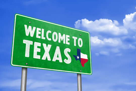 WELCOME TO TEXAS - traffic sign message