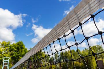 Tennis Net, under a Blue Sky