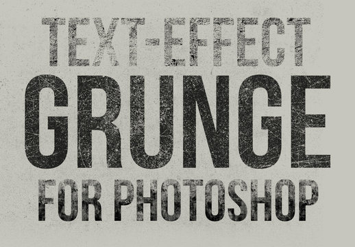 Grunge Text Effect Mockup