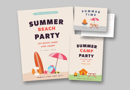 Summer Party Stationery Sets