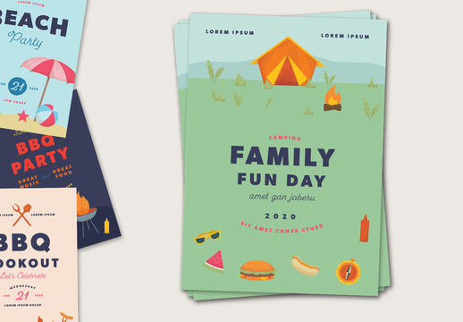 Summer Party Flyer Layouts